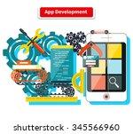 concept for app development... | Shutterstock . vector #345566960