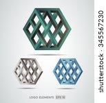 abstract logo template element... | Shutterstock .eps vector #345567230