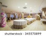 interior of a banquet hall | Shutterstock . vector #345570899