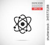 atom icon. molecule icon.... | Shutterstock .eps vector #345573188
