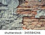 Worn Cracked Brick Wall Texture ...