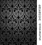 damask seamless floral pattern. ... | Shutterstock .eps vector #345589589