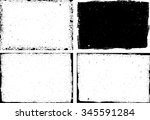 grunge frame texture set  ... | Shutterstock .eps vector #345591284