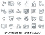 education icon set suitable for ... | Shutterstock .eps vector #345596600