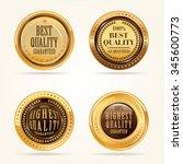 gold labels vector set. | Shutterstock .eps vector #345600773