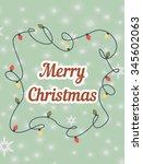 merry christmas | Shutterstock .eps vector #345602063