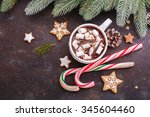 christmas holiday background... | Shutterstock . vector #345604460