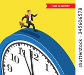 time is money. time management... | Shutterstock .eps vector #345606578