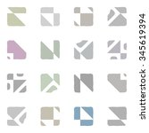 abstract seamless geometric... | Shutterstock . vector #345619394