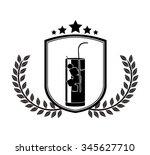 beverage menu design  vector...   Shutterstock .eps vector #345627710