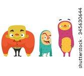 three monster | Shutterstock .eps vector #345630644