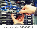 replacing a failed hard drive... | Shutterstock . vector #345634814