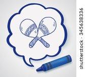 maracas doodle | Shutterstock . vector #345638336