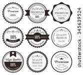 premium label vintage style.... | Shutterstock .eps vector #345639524