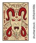 the devil.  the major arcana... | Shutterstock .eps vector #345644486