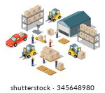 icon 3d isometric process of... | Shutterstock .eps vector #345648980