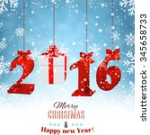 2016 new years background with... | Shutterstock . vector #345658733
