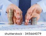 businessman sharing profit ... | Shutterstock . vector #345664079