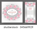 floral background with place... | Shutterstock .eps vector #345669929