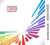 colorful lines background.... | Shutterstock .eps vector #345673400