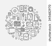 mobile repair illustration  ... | Shutterstock .eps vector #345682970