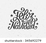 feliz navidad text on vintage... | Shutterstock . vector #345692279
