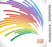 colorful lines background.... | Shutterstock .eps vector #345694334