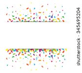 confetti and firework... | Shutterstock .eps vector #345695204