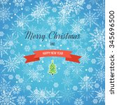 christmas greeting card. merry... | Shutterstock . vector #345696500