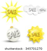 discounts. icons for sales.... | Shutterstock .eps vector #345701270