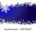 grunge snowflake background | Shutterstock .eps vector #34570657