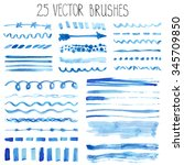 watercolor brushes hand... | Shutterstock .eps vector #345709850