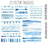 watercolor brushes hand...   Shutterstock .eps vector #345709850