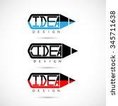 creative pencil logo design...