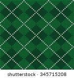 knitted background. argyle.... | Shutterstock .eps vector #345715208
