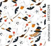 seamless pattern design flat... | Shutterstock . vector #345721298