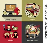 auction concept icons set with... | Shutterstock .eps vector #345724358