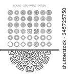 geometric circular ornament set.... | Shutterstock . vector #345725750