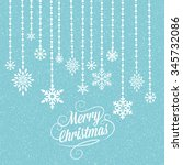 christmas and new year wish... | Shutterstock . vector #345732086