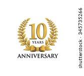 10 years anniversary wreath... | Shutterstock .eps vector #345735266