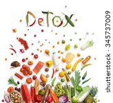 detox  food choice   healthy... | Shutterstock . vector #345737009