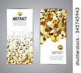 gold sparkles on white... | Shutterstock .eps vector #345745943