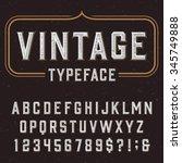retro vector typeface. type... | Shutterstock .eps vector #345749888