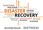 a word cloud of disaster... | Shutterstock .eps vector #345750533