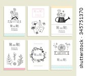 hand drawn collection of... | Shutterstock .eps vector #345751370