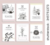 hand drawn collection of... | Shutterstock .eps vector #345751373