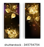 two banners with gold  entwined ...