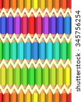 colored pencils. seamless... | Shutterstock .eps vector #345756254