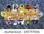 meeting brainstorming... | Shutterstock . vector #345757046