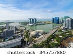 Aerial View Of Singapore...